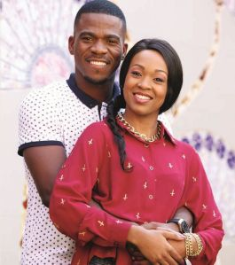 Senzo with his lovely wife Mandisa