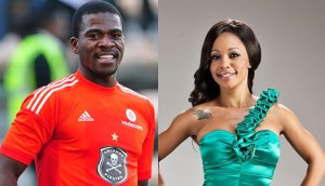 Late Senzo Meyiwa and his girlfriend Kelly Khumalo