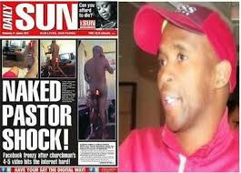 Pastors love too much sex? Pastor Zondo on the cover of the Daily Sun